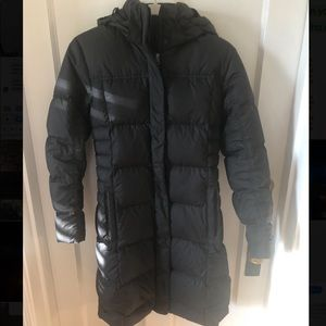 Patagonia women's black down parka